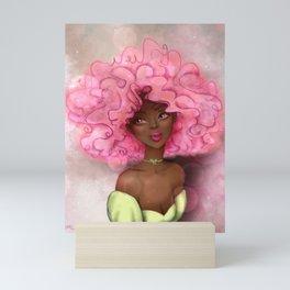 ROSE AFRO LADY Mini Art Print
