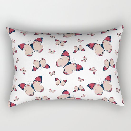 Spring Butterfly (Pattern) Rectangular Pillow