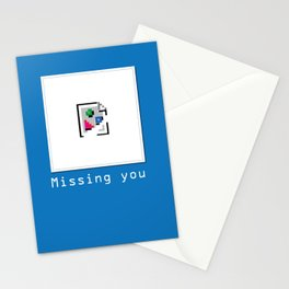 Talk Nerdy to me - Missing you Stationery Cards