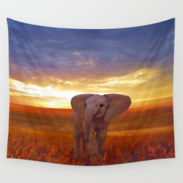 Elephant baby Wall Tapestry