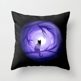 Thru Violet Mist Throw Pillow