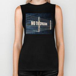 No Trespassing Biker Tank