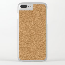 Lether skin Clear iPhone Case