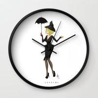 supreme Wall Clocks featuring The Supreme by Dan Paul Roberts
