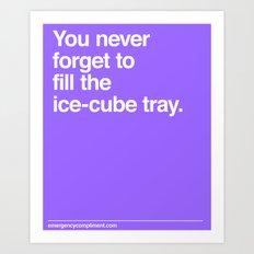 Ice Cube Tray Art Print