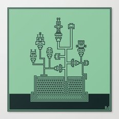 Planticular Robotic Canvas Print