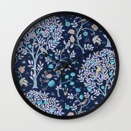 """William Morris """"Kelmscott Tree"""" 2. Wall Clock"""
