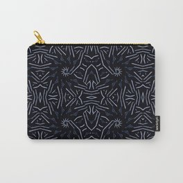 Dark Blue Ethnic Sharp Pattern Carry-All Pouch