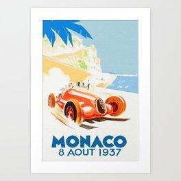 Grand Prix Monaco 1937 Art Print