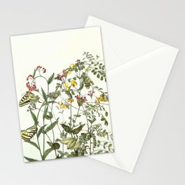 My mind is a garden II - butterflies and flowers Stationery Cards