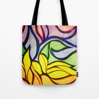 waves Tote Bags featuring Waves by Aaron Carberry