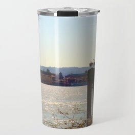 Surveyor Geese by the River Travel Mug
