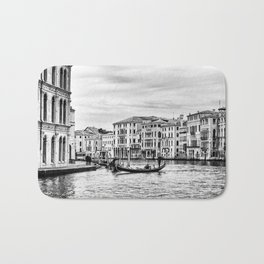 Gondola and tourists in Venice Bath Mat