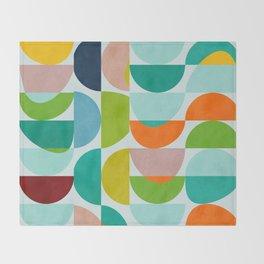 shapes abstract III Throw Blanket