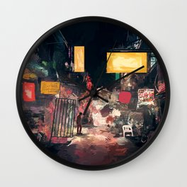 The Closing Hours Wall Clock