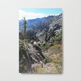 5 Lakes Hike - Tahoe Metal Print
