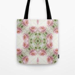 Pink Chrysanthemums Kaleidoscope Art 10 Tote Bag
