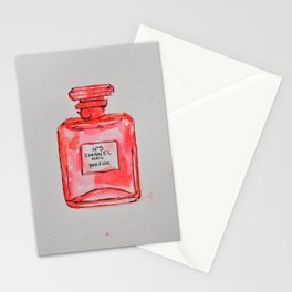 perfume red Stationery Cards