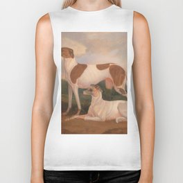 oil paintings of greyhounds Biker Tank