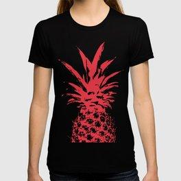 Half Red Pineapple duo tone vector T-shirt
