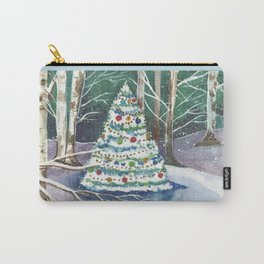 Holiday Evergreen in the Birches Carry-All Pouch