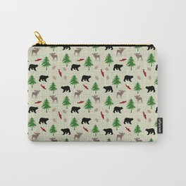 Moose & Bear Pattern Carry-All Pouch