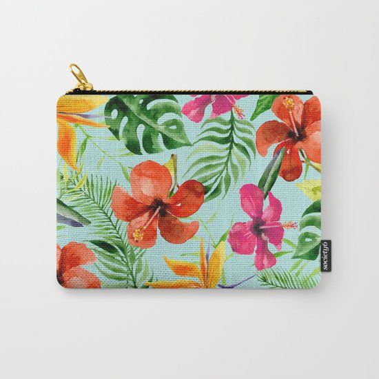 Colorful Tropical Pattern Carry-All Pouch