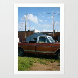 truck in west, tx Art Print