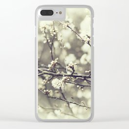wild blossoms Clear iPhone Case