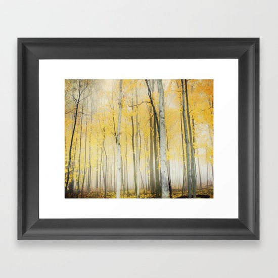 Yellow Framed Art Print