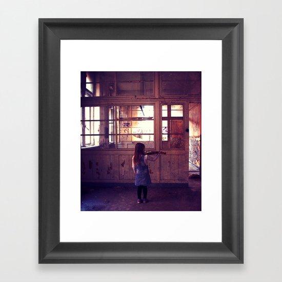 play my girl.. Framed Art Print