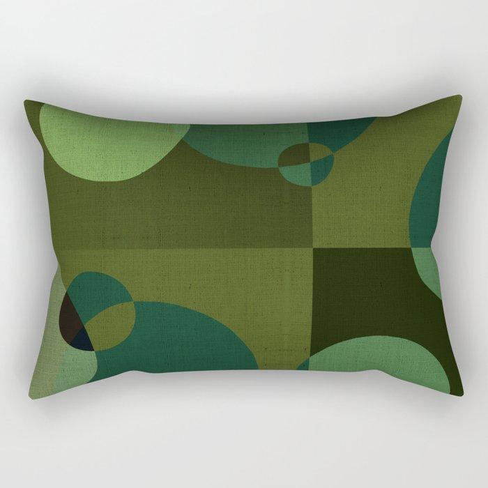 """Retro Green Super Dots"" Rectangular Pillow"