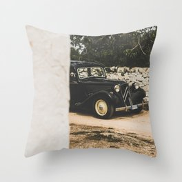 French car, Traction Avant, fine art photography, old auto, classic auto, supercar, executive car Throw Pillow