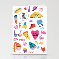 90s Stationery Cards featuring 90s by melissa chaib