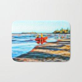 Surf Rescue on beautiful beach Bath Mat