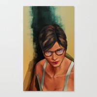 grand theft auto Canvas Prints featuring Grand Theft Auto Online Characters - The Beauty of The Damned by W.Flemming