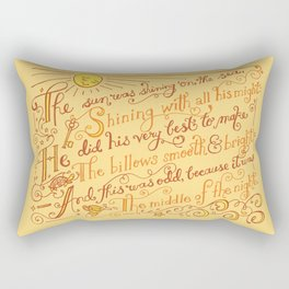 The Walrus and the Carpenter, Stanza 1 Rectangular Pillow