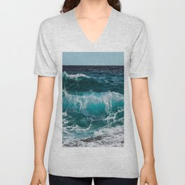 Breakers Rolling In To Shore Unisex V-Neck