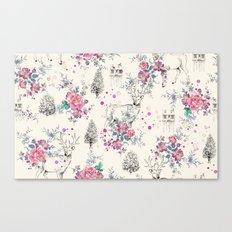 Deer pattern Canvas Print