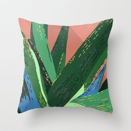 I Don't Bite (Much) - Tropical Cactus Succulent Illustration Throw Pillow