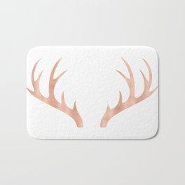 Antlers Rose Gold Deer Antlers Bath Mat