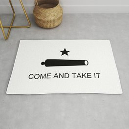 Texas Come and Take it Flag (high quality image) Rug