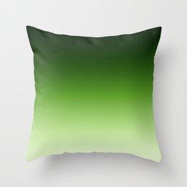 Green. Ombre . Throw Pillow