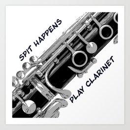 Love to Play Clarinet Art Print