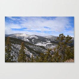 Mountain view from Squaw Pass Road Canvas Print