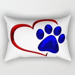 Paw Print on My Heart Rectangular Pillow