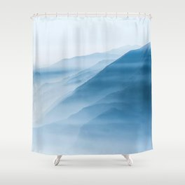 Moodie blue mountains Shower Curtain