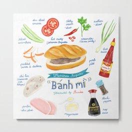 Bánh Mì (Vietnamese Baguette) Metal Print