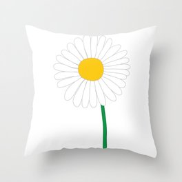 Daisy Illustration Throw Pillow