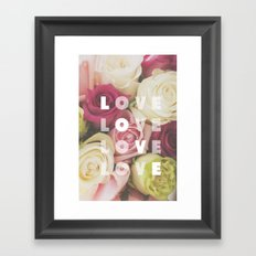 love love love Framed Art Print